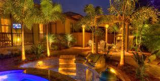 kichler award winning south tampa backyard landscape lighting with pool backyard landscape lighting