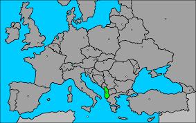 Resultado de imagen de mapa de albania