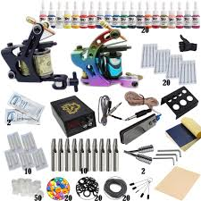 Complete <b>Tattoo Kit Professional</b> Beginner <b>Machine</b> Set Tattoo Gun ...