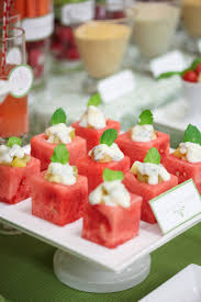 cubos de melancia