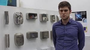 Автоматический <b>дозатор для мыла Nofer</b> 03023 - YouTube