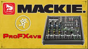 MACKIE ProFX4v2 - портативный <b>микшерный пульт с</b> ...