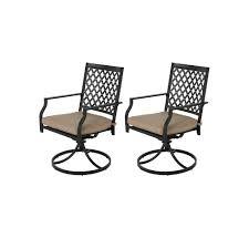 2pc Iron <b>Dining</b> Swivel <b>Chairs With Cushions</b> - Nuu Garden : Target
