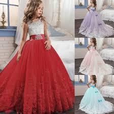 <b>Princess</b> Lilac/red Long Girls Pageant <b>Dresses</b> Kids Prom <b>Puffy</b> ...