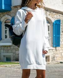 <b>Autumn Women</b> Long Sleeve Plain Hooded <b>Sweatshirt</b> Loose ...