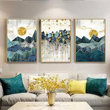 <b>Abstract</b> Ocean Landscape Wall Art Canvas Painting <b>Minimalist</b> ...
