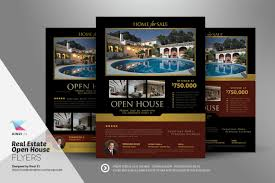 real estate open house flyers flyer templates on creative market