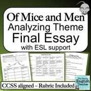 of mice and men theme quot   anti essays   dec  of mice and men theme worksheet by stw