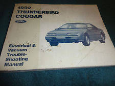 1992 thunderbird 1992 ford thunderbird cougar wiring vacuum diagram shop manual orig electrical