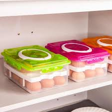 Kitchen Egg <b>Storage</b> Box <b>24 Grid</b> Egg Box Food Container ...
