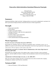 Resume Template: Good Objective For Receptionist Resume ... ... Executive Administrative Assistant Resume Example With Summary And Technical Skills Or Work Experience Resume Template, Good ...