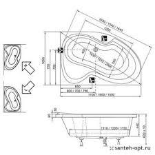 <b>Акриловая ванна Ravak Rosa</b> II 150x105 R CJ21000000 купить в ...