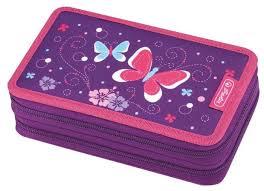Характеристики модели <b>Herlitz Пенал</b> Purple <b>Butterfly</b> (50014231 ...