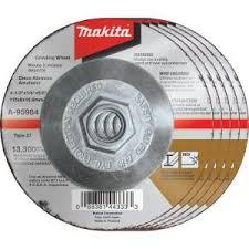 Makita 4-1/2 in. x 1/4 in. x <b>5/8</b> in. 36-Grit <b>INOX</b> Grinding Wheel (5 ...
