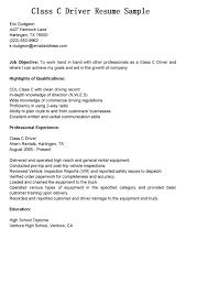 driver resumes  class c driver resume sampleshare   friends and family and sp the joy