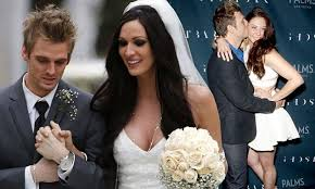 Aaron Carter walks his sister Angel down the aisle, but where's Nick ...
