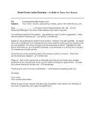 examples of email cover letters template examples of email cover letters