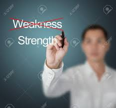 business man eliminate weakness and choose strength stock photo stock photo business man eliminate weakness and choose strength