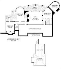 The Hollowcrest House Plans First Floor Plan   House Plans by    The Hollowcrest House Plans Basement Floor Plan   House Plans by Designs Direct