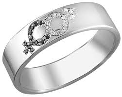 Серебряное обручальное парное <b>кольцо Эстет 01O250129</b> с ...