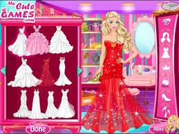 barbie dress up games barbie princess wedding dress up game
