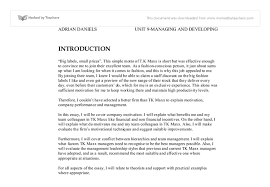 motivation essay   a level business studies   marked by teacherscom document image preview