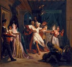 charles coypel s lavish theatrical don quixote tapestries histoire de don quichotte don quichotte endormi combat contre les outres