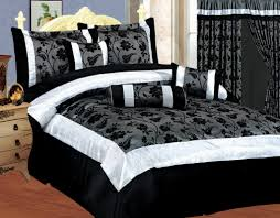 white black and gray bedding black white style modern bedroom silver