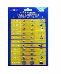 WATCH BATTERY VALUE Pack Assorted Cell Button Coin Batteries ...