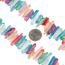 TUMBEELLUWA Colorful <b>Titanium Coated Crystal Points</b> Quartz ...