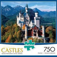Majestic Castles: <b>Neuschwanstein Castle</b> Bavaria 750 Piece <b>Jigsaw</b> ...