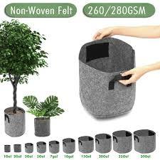 Non Woven <b>Felt</b> 1 30 Gallon Fabric Grow <b>Bags</b> Breathable Pots ...