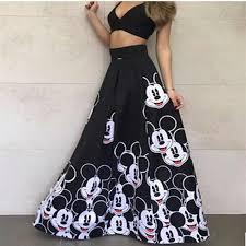 <b>2019 Summer</b> Women Party Night Long Maxi <b>Dress Mickey</b> Printed ...