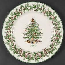 <b>Spode CHRISTMAS</b> TREE (GREEN TRIM) 2006 Steinmart Collector ...
