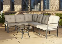 cosco outdoor 7 piece serene ridge aluminum sofa sectional patio furniture set with cushions and coffee brown set patio source outdoor