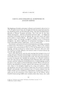 useful and conceptual astronomy in ancient hawaii springer inside