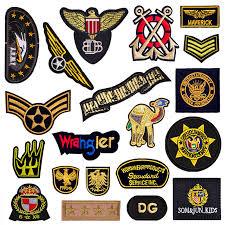 <b>1 PCS Round</b> Military Armband <b>Letter</b> Patch Embroidery Iron on ...