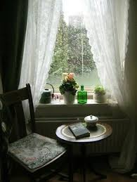 Image result for window sill and rain and chai