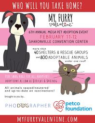 sp the word animal adoption event cincinnati oh my furry mfv postcard