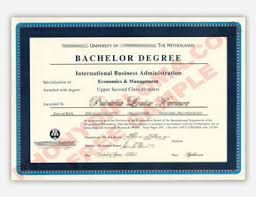 Fake Diploma Samples from Netherlands