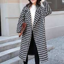 <b>2019 autumn</b> women trench coats <b>winter</b> long overcoat <b>houndstooth</b> ...