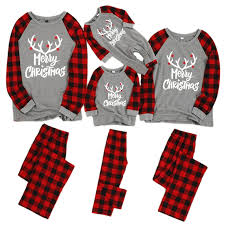 <b>Family</b> Christmas Pajamas <b>Set</b> Christmas Clothes Parent child Suit ...