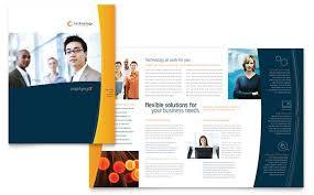 brochure templates  sample brochures amp examples  brochure template sample