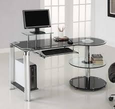 glass office desk ikea black glass office desk