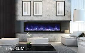 Amantii Electric Fireplace BI-60-SLIM – 60″ wide x <b>6 3/4</b>″ d ...
