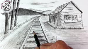 Como Dibujar un Paisaje en Perspectiva <b>de</b> Un <b>Punto</b> muy Facil y ...