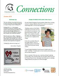 students produce latest connections newsletter evans community ecs newsletter fall 2016