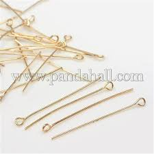 Wholesale Iron Eye Pin, <b>Light</b> Gold, 45x0.<b>7mm</b>, Hole: 2mm; about ...