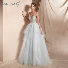 Elegant Evening Dress Long Sleeveless Princess Ball Gown ...