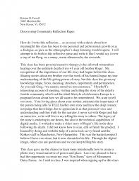 cover letter examples of reflective essay free examples of